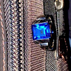 Size 12 unique blue spinel ring.
